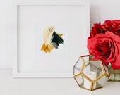Mini No 1, limited edition art print, minimal abstract art print, green abstract art, minimal art, small abstract
