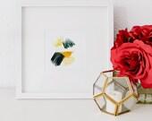 Mini No 6, limited edition art print, minimal abstract art print, yellow abstract art, minimal art, small abstract