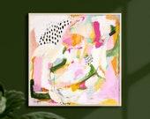 Adira, 16x16, Abstract art, art prints, prints wall art, large wall art, abstract, wall art prints, extra large wall art, pink abstract