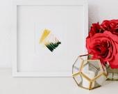 Mini No 5, limited edition art print, minimal abstract art print, yellow abstract art, minimal art, small abstract