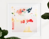 Kate, 12x12in Contemporary wall art print, pink wall art abstract, modern chic wall decor- Studio Sale