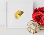 Mini No 4, limited edition art print, minimal abstract art print, yellow abstract art, minimal art, small abstract