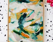 Emilia Abstract Painting Framed, painting acrylic, abstract painting green