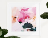 Elle, 16x16in Contemporary wall art print, pink wall art abstract, modern chic wall decor