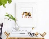 Elephant No.1 animal art print, wall art print, elephant art