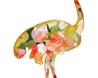 Ostrich Animal Art Print, Number Three, animal silhouette, nursery print