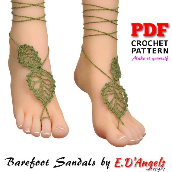 Crochet pattern barefoot sandals pattern barefoot pattern etsy image 0 malvernweather Image collections