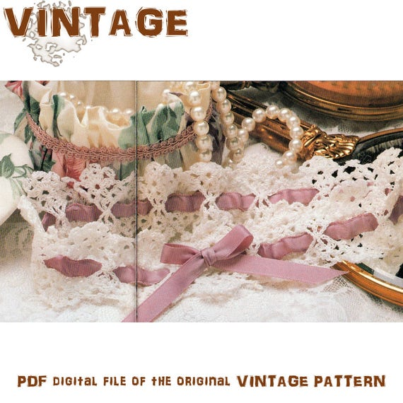 Crochet Pattern Crochet Garter Vintage Garter Bridal Garter