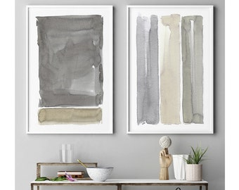 Large Abstract Painting, Abstract Art, Large Wall Art, Large Abstract Art, Abstract Painting, Painting, Set of 2 Art, Gray Abstract Painting
