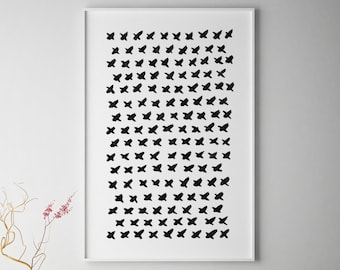 Minimalist Abstract Wall Art, Black and White Wall Art, Black And White Abstract Art, Large Wall Art, Black White Art, Black White Painting