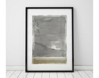 Original Watercolor Painting, Abstract Painting, Fine Art, Kunst, Pintura, Minimalist, Geometric Art, Stripes, Beige, Gray, White, Abstract