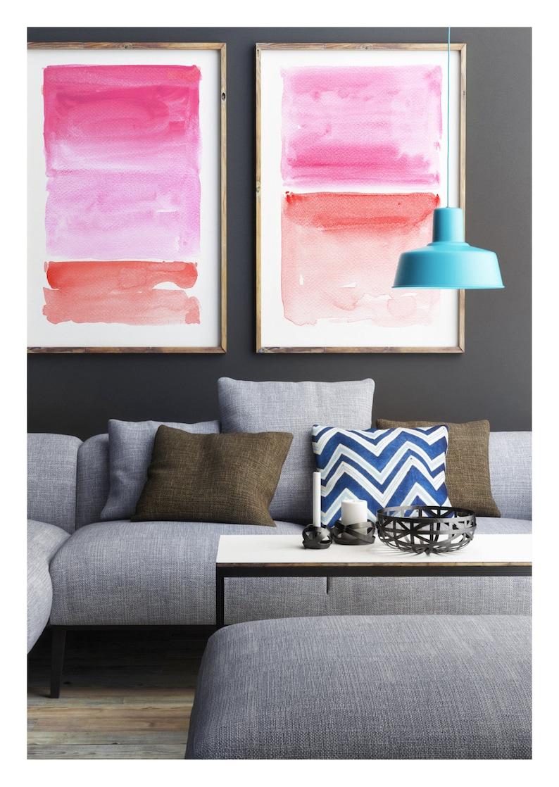 Abstract Wall Art Print Set Abstract Watercolor Abstract image 0