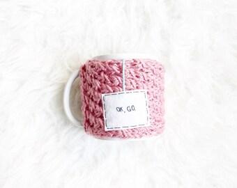Girl Boss Personalized Mug, Coffee Mug Cozy, Personalized Gifts for Her, Travel Mug Cozy, Cup Cozy, Knitted Cozy, Mug Cozy, Womens Gift