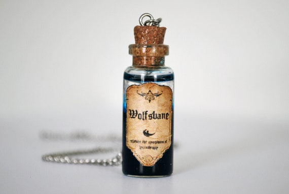 Wolfsbane Potion Harry Potter Potion Hogwarts Necklace Etsy