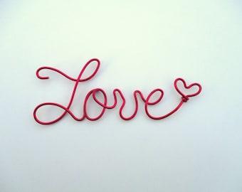 wire word love,wire script love,valentines day,wire script words,red wire love,pink wire love,wire writing love,wire cursive love,word art