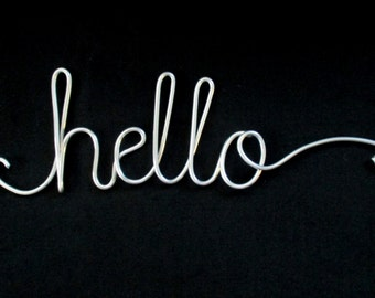 wire word hello,wire words,hello,wire script words,wire writing,wire cursive words,hanging words,wire sign,wire word art, wire wall words,