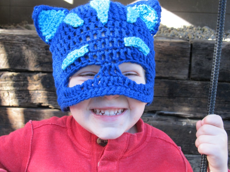 PJ Masks Catboy Hat Crochet Pattern Pattern Only  593d8101679