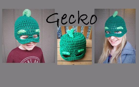 PJ Masks Gecko   Gekko Hat Crochet Pattern Pattern Only  58fca0095de