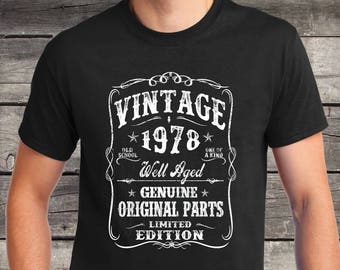 40th Birthday Gift T Shirt Turning 40 Years Old VINTAGE