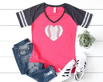 Baseball Mom Shirt, Baseball, Softball Heart, Baseball Shirt Mom, Baseball Shirt, Softball Heart Shirt, For Mom, Baseball Love, Game Shirt