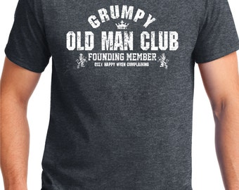 GRUMPY OLD MENS CLUB Metal Sign Plaque Granfather Best Friend Fathers day Gift