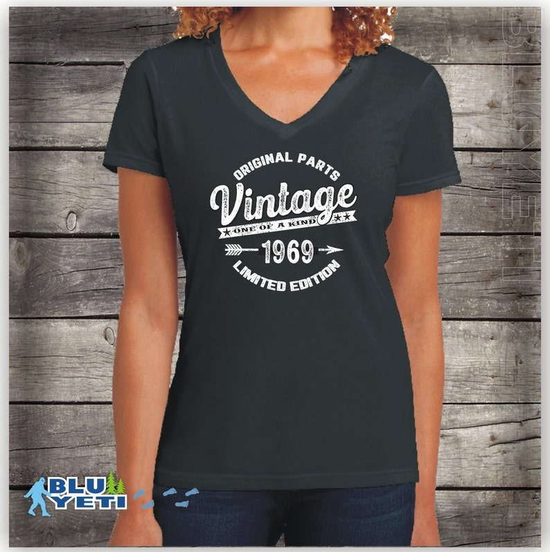 Womens Vintage 1969 Birthday Shirt 50 Years Old 50th