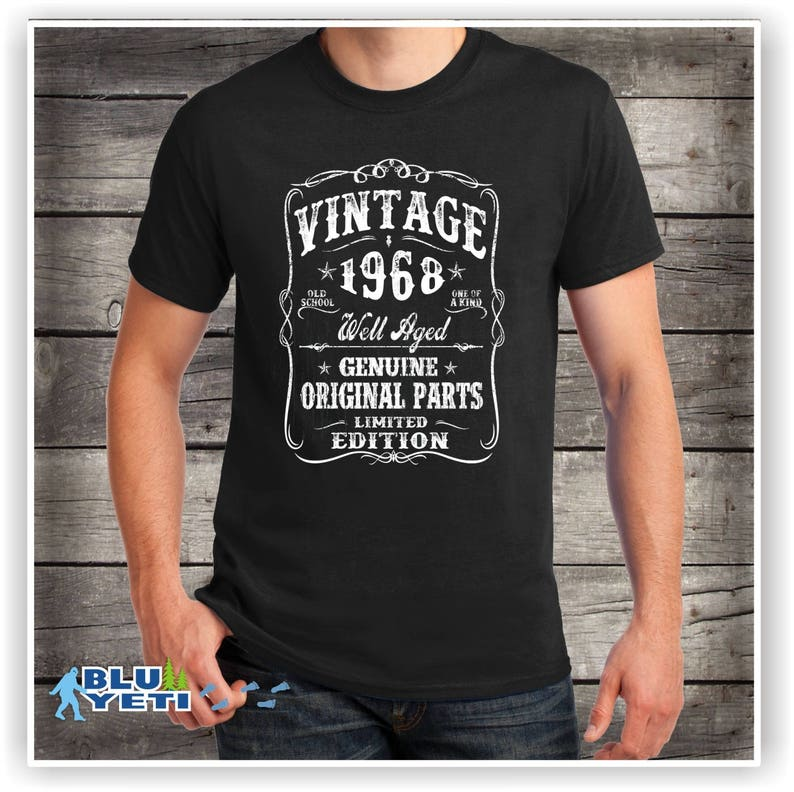 1968 Birthday Shirt Well Aged VINTAGE