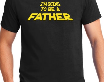 New Father Shirt, Star, Force, baby announcement, new dad, dad to be, fathers day, gift for dad, daddy