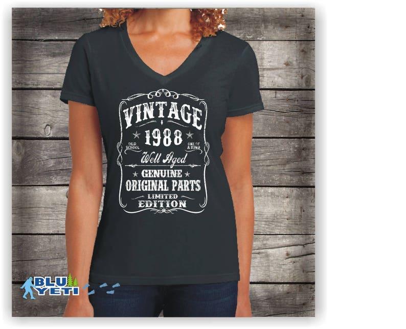 260bc27f0 Her Birthday shirt Womens 1988 birthday shirt birthday for | Etsy