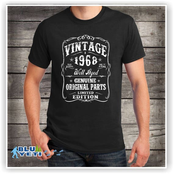 His 50th Birthday Shirt Turning 50 Years Old VINTAGE