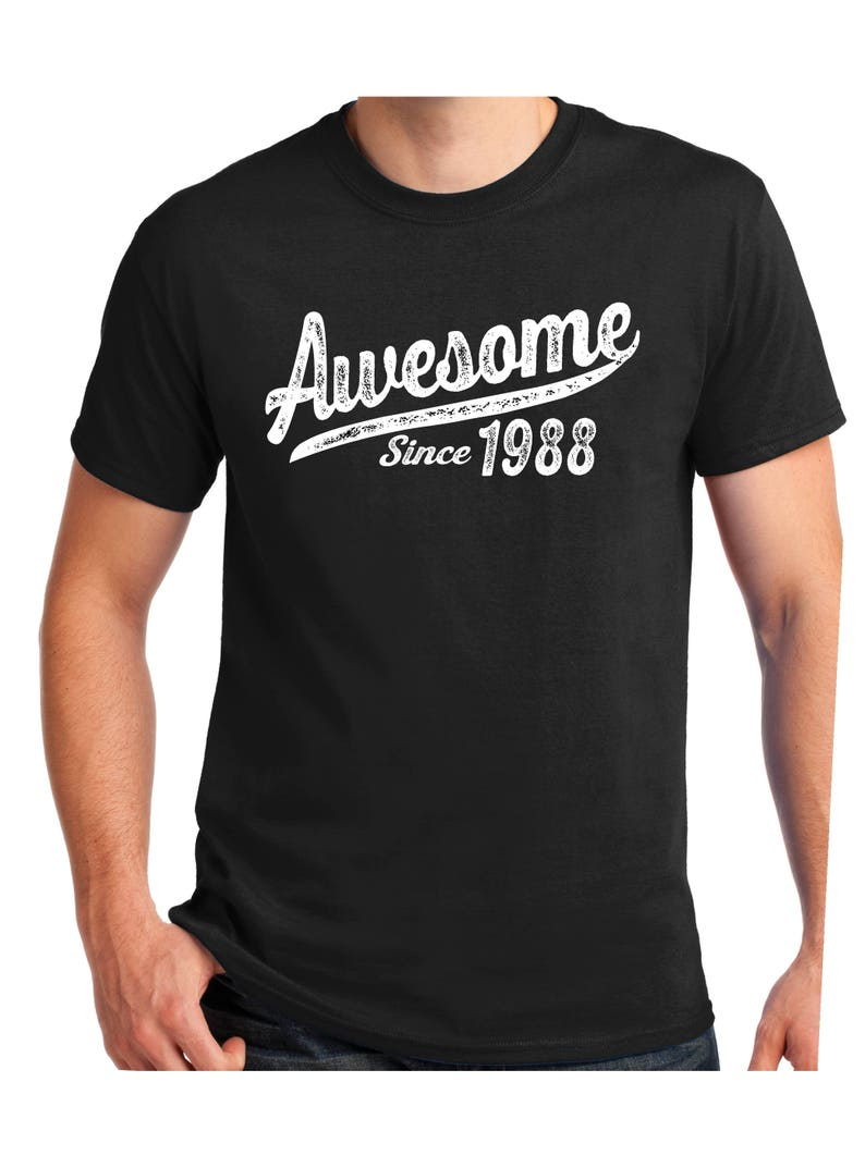 Awesome Since 1988 Birthday Gift T Shirt