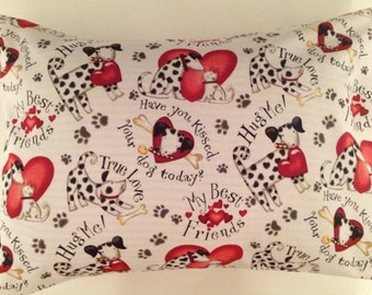 Travel Pillow Case / Child  Pillow Case  / Love your Dog