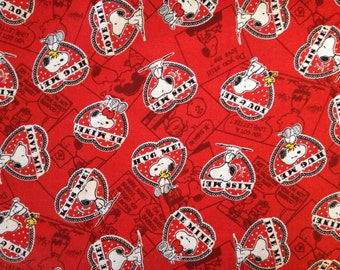 Travel Pillow Case /  Child Pillow Case / Snoopy Valentines Day / Peanuts