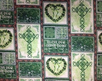 Standard Pillow Case Pair /  Irish Blessings / St Patrick's Day / FREE SHIPPING