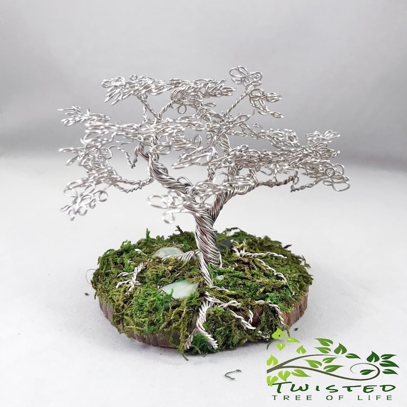 Tree Of Life Sculpture Aluminum Wire Wrapped Trunk for Zen image 0