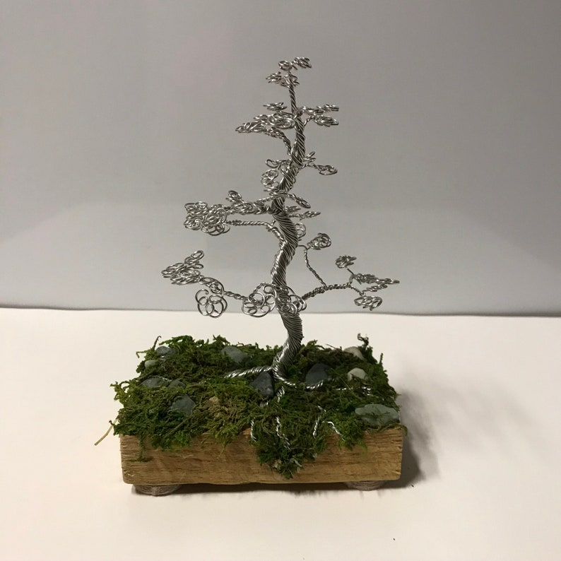 Tree Of Life Sculpture Wire Wrapped Trunk for Zen Yoga Room or image 0