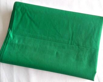 Coupon 200 cm x 110 cm grass green Indian cotton muslin