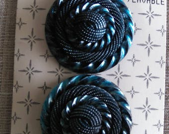 Set of 2 Vintage Tiffany buttons plastic 25 mm