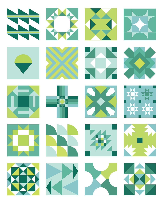 Summer Sampler 2016 Pdf Quilt Pattern Etsy