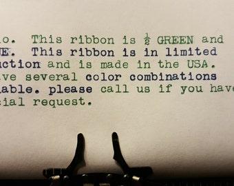 Universal Blue and Green Typewriter Ribbon