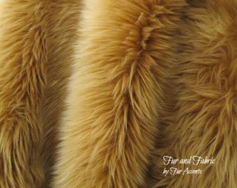 Ivory Beige Tan Green Camel Fox Long Piles Exotic Soft and Long Pile Faux Fur SC Fur Fabrics Sewing Fabrics