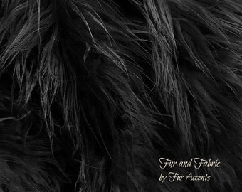 Black,Faux Fur Fabric,Craft Squares,Fun Fur - Baby Photos,Costumes,Props,Fashion,Sewing,Art Supplies,Yardage,Material