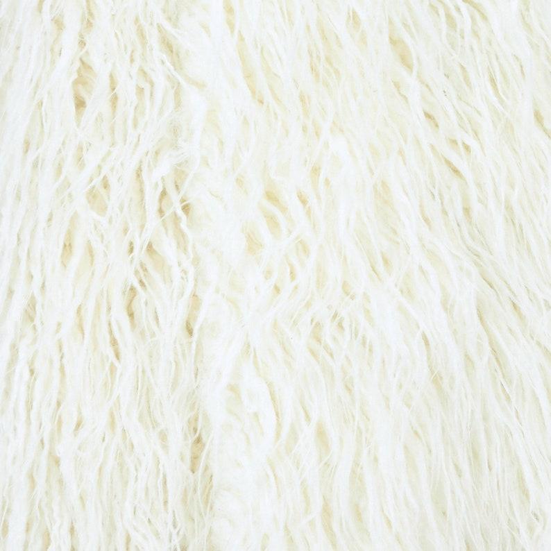 5267131f9532 Mongolian Sheepskin Long Hair Curly Faux Fur Fabric Shaggy Fun
