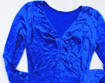 VTG Blue Velvet Bodysuit