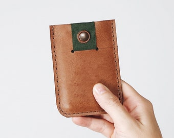 Minimalist Leather Mens Wallet » Credit Card Holder - Gifts for Him