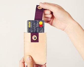 Minimalist Leather Womens Wallet » Credit Card Holder - Gifts for Her