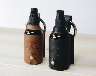 Sanitizer/Hand Soap Dispenser Leather Keychain - Gifts for Him