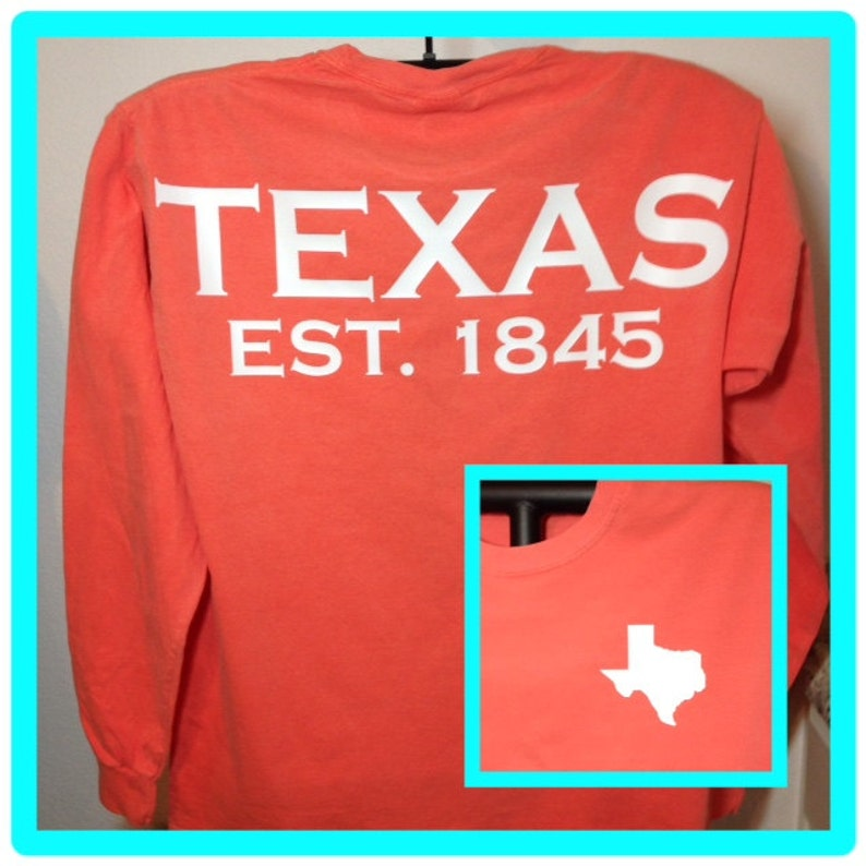e612f3cb Texas spirit long sleeve t-shirt lone star state or ANY STATE | Etsy