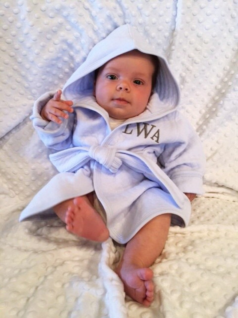 Personalized Baby Bath Robe 1st Birthday Gift Unique