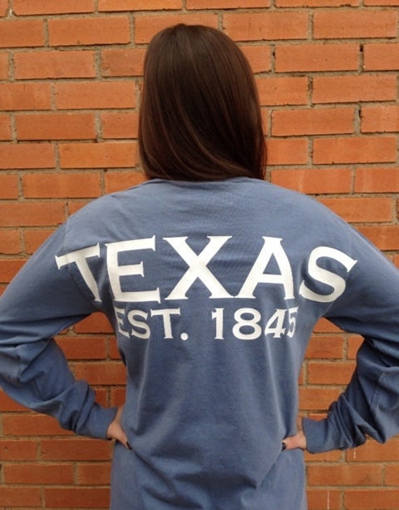 Texas spirit long sleeve t-shirt, Texas shirt, Texas gift, Lone Star State tee t-shirt, all 50 states, custom state shirt